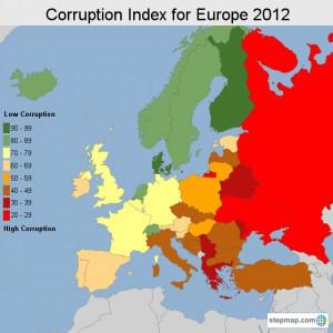 stepmap-karte-corruption-index-for-europe-2012-1230100